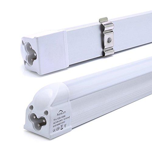 Un lote de 2 Auralum® 120cm 16W LED Tubos fluorescentes T5 Blanco(6000-6500K) 2835*96LED 1550LM lámpara empotrada interior de la Versión iluminación de oficinas