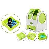 WSXX Fan Mini Dual Port Leafless Kühlung Stumm Kleine Klimaanlage Portable USB Akku Desktop