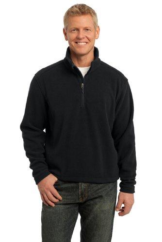 Port Authority Men's Tall Value Fleece 1/4 Zip Pullover LT Black Tall Mens Fleece