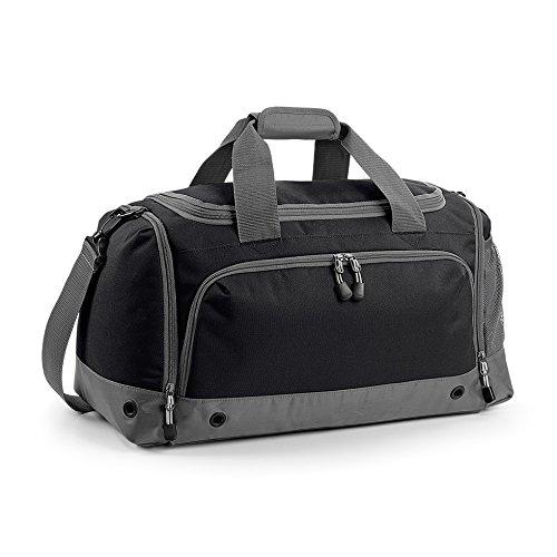 Sporttasche Multi Sport mit Schuhfach und Nassfach individualisierbar mit Namen und Wunschmotiv (limegreen) schwarz