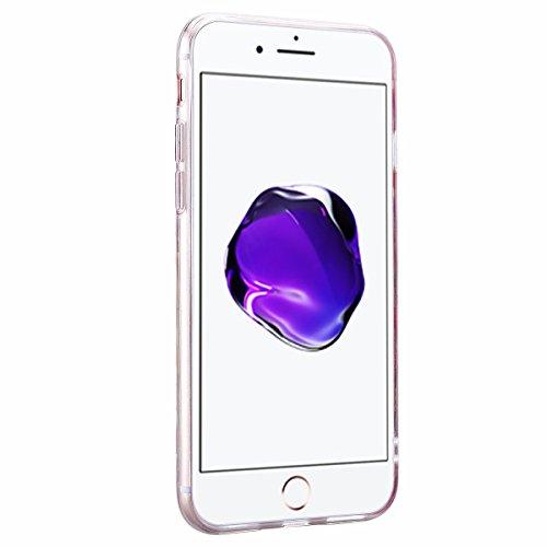 """iPhone 7 Plus (5.5"""") Hülle Weich Silikon + Hart PC Schutzhülle HB-Int 3 in 1 Back Hülle Bling Lila Bunte Dreieck Handyhülle Dünn Rundum Bumper Kunststoff Tasche mit TPU Rahmen Beschützer Haut Protecti Bling Silber"""