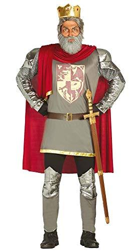 Richard Kostüm Löwenherz König - shoperama Herren-Kostüm Ritter König Richard Löwenherz Waffenrock England Kreuzzug Kreuzfahrer Mittelalter Kettenhemd, Größe:L