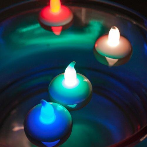 60er Set LED Teelichter farbwechselnd Schwimmkerze batteriebetrieben
