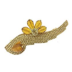 Accessher designer studded back clip hair accessories for Women