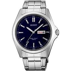 Orient Herren 40mm Silber Ëdelstahl Armband & Gehäuse Datum Uhr FUG1H001D6