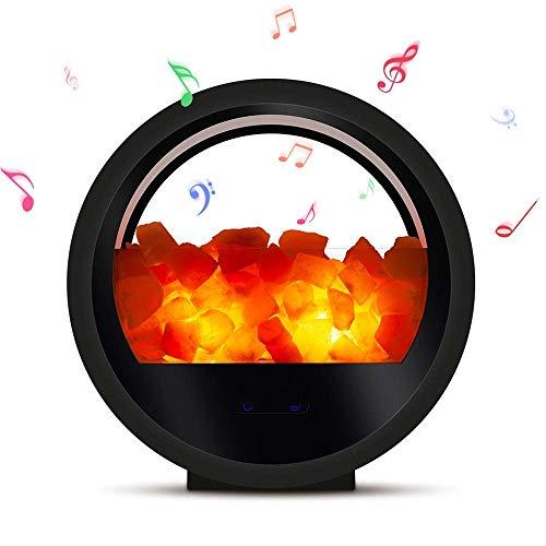 YOZOOE Salzlampe-Nachtlicht, Relassy Himalayan Pink Salzlampen Bluetooth-Lautsprecher, Crystal Sea Salzlampe mit Dimmer, Wohnkultur-Geschenke mit 2 zusätzlichen Salzlampen Kinderzimmer Nachtlichter Crystal Bluetooth