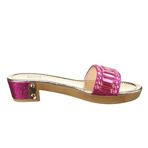 Damen Schuhe, KF168-21O, SANDALEN Pink