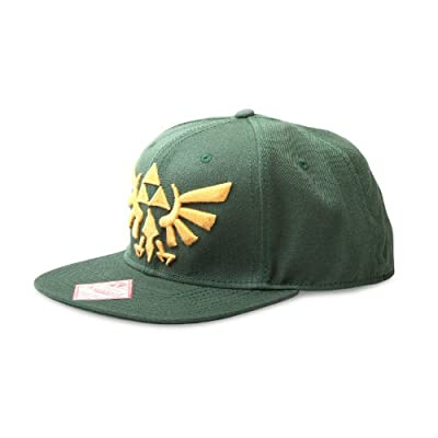 Nintendo Zelda Cap Mütze Green Logo Wide Bill Cap Schirmmütze The Legend Of Zelda Twilight Princess von for-collectors-only auf Outdoor Shop