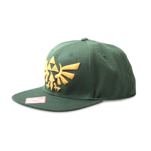Zelda Cap Mütze Green Logo Wide Bill Cap Nintendo Schirmmütze The Legend Of Zelda Twilight Princess