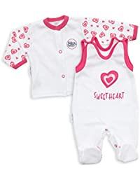 Baby Sweets Mädchen Body weiß pink Sweet Heart