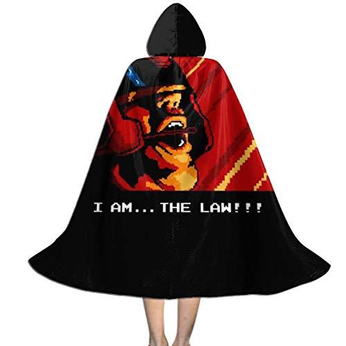 KUKHKU I Am The Law, Retro Judge Dredd Unisex Kinder Kapuzenumhang Umhang Umhang Cape Halloween Party Dekoration Rolle Cosplay Kostüme (Dredd Cosplay Kostüm)