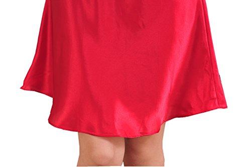 ASCHOEN - Robe de chambre - Uni - Femme rojo oscuro