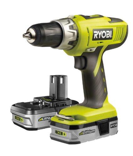 Ryobi Combi Drill 2 x Lith-Ionen-Batterien 18V Ryobi 18 Volt Drill Battery