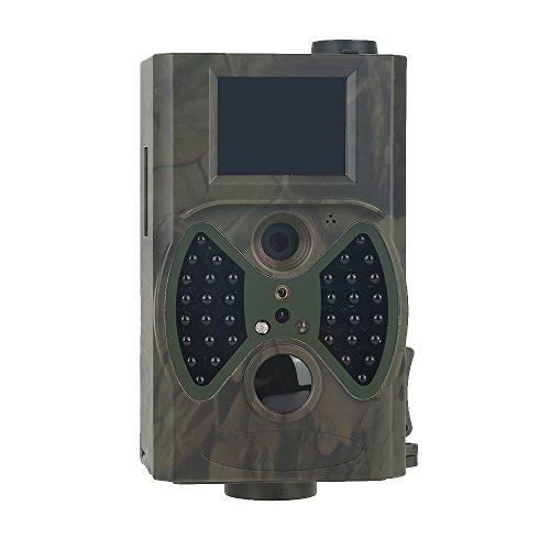 Wildkamera,Wildkamera Fotofalle 12MP 1080P Full HD Jagdkamera,Wasserdichte Überwachungskamera