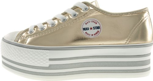 loch C50 Trendy Sneakers Plattform top Low Maxstar 6 Tc ouro 7RCq4