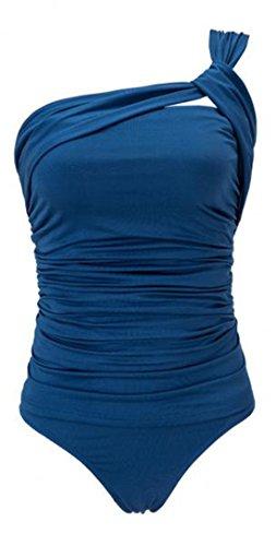 Elsa Steen - Damen One Shoulder Tankini , S-3XL, Viele Farben Blau
