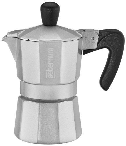Aeternum 4521 Allegra Espressokocher für 1 Tasse, silber
