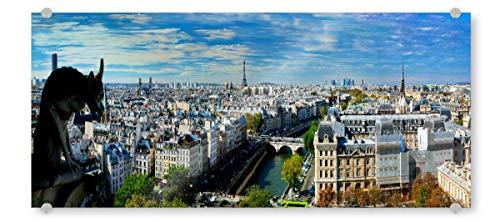 artboxONE Acrylglasbild 120x40 cm Städte/Paris Paris Panorama, France. Eiffel Tower, Seine River - Bild Europa