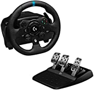 Logitech G923 Racing Wheel and Pedals for Xbox One and PC featuring TRUEFORCE up to 1000 Hz Force Feedback, Re