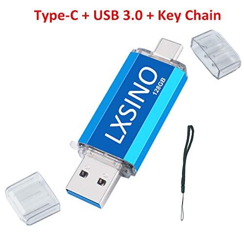 USB Stick 128 GB USB C Stick 2-in-1 Speicherstick USB 3.0 Flash Drive OTG Stick Type C Memory Stick für Typ C Smartphones, Samsung Galaxy S10, S9, S8, Note9, Google Pixel 3, MacBook Pro