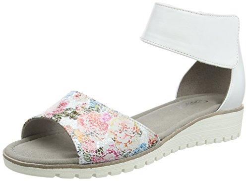 Gabor Shoes Damen Fashion Knöchelriemchen, Weiß (Weiss 40), 39 EU