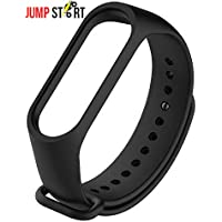 Jump Start Adjustable Xiaomi Mi Band 3/ Mi Band 4 Watchband Silicone Strap Colour Band Bracelet (Not Compatible with Mi Band 1/2)