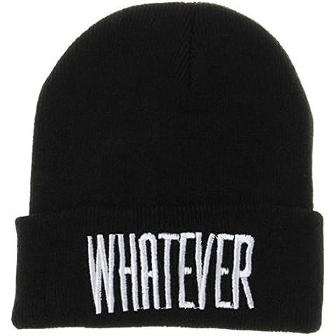 Xinantime Hip-Hop Cappello Crochet Knit Beanie Inverno Caldo Colore Nero