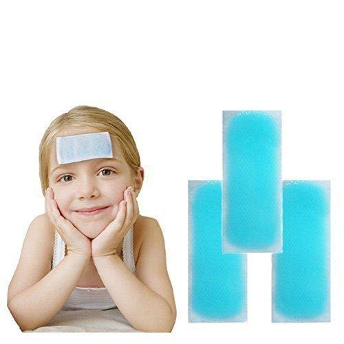 Kühlpflaster 10x Kühlpad Kühlung Kopfschmerzen Kältepflaster Pflaster Fieber Fieberpflaster -