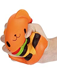 Chaud vendre ! Tefamore Jumbo Cartoon Cat Hamburger Scented Slow Rising Exquisite Kid Soft To