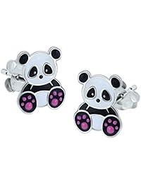 Sterling Silver Panda Earrings