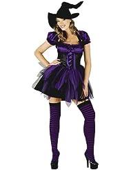 Mix lot Frauen new Halloween eingestuft flippige Hexe Outfit Damen reizvolle Strümpfe und Hut Fancy Parteikostüm Mädchen böse Hexe Minikleid Größe S / M / L / XL
