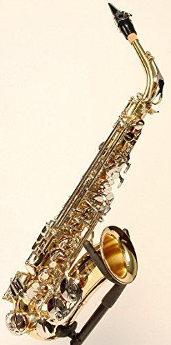 Original SYMPHONIE WESTERWALD Design Altsaxophon Saxophon Alt, Gold/Silber, inkl. Luxus-Hartschalenkoffer und Zubehör, Neu