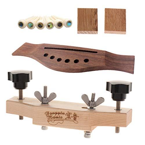 1 Set Strumenti Per Strumenti Luthier Con Morsetto Per Ponte Di Chitarra, acero massiccio, palissandro