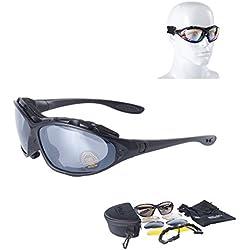 Nueva Daisy C4gafas tácticas militares Gafas resistente al viento espejo para practicar airsoft paintball gafas al aire libre Caza Desert Storm gafas