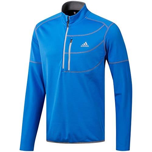 adidas Herren Climawarm Gridded 1/4 Zip Layer Top Pullover Kinder Blau (Azul Dq1785) X-Large 1/4 Zip Pullover Top