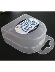 BAY® LANY-CASE mit Oese für Zahnschutz Zahnspange usw. BOX Dose Hygienebox Aufbewahrungsbox Zahnschutzbox Zahnschutzdose klar durchsichtig transparent Mundschutz groß Mundschützer Zahnschützer Einhängeöse Öse