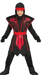 Guirca-81253 Disfraz shadow ninja, Multicolor, Talla 10-12 años (81253.0)