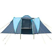 La Skandika Hammerfest 4 tenda per 4 persone. Le ampie cabine offrono abbastanza spazio, per ognuna 2 persone.   L'entrata della Hammerfest é dotata di protezione per le intemperie. Il materiale con cuciture sigillanti e la colonna d'acqua di 2.000 m...