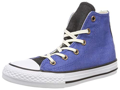 Converse Unisex-Kinder Chuck Taylor All Star High Hohe Sneaker Blau/Schwarz, 28 EU