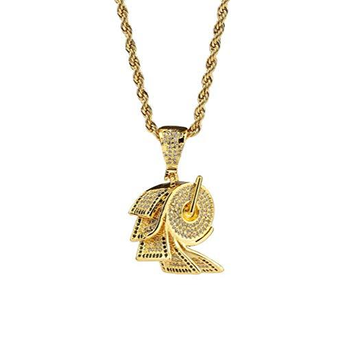 Gold Plattiert Iced Out CZ Toilettenpapier Dollarzeichen Anhänger Bling Halskette (Gold/Silber),Gold ()