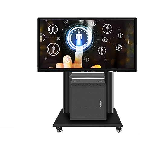 Entertainment-konsole Plasma Lcd (XUE Rolling TV Stand Mobile TV Cart, höhenverstellbar mit Ablage für LCD LED Flachbildschirme TV Ständer Halterung mit Rädern, passend für 116,8 cm bis 21,6 cm Bildschirme 360 Grad drehbar)