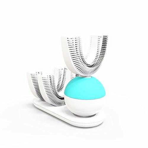Cikuso Cepillo de dientes perezoso empaquetado inteligente automatico de 360 grados Cepillo de dientes recargable blanqueador sonico de limpieza rapida electrica