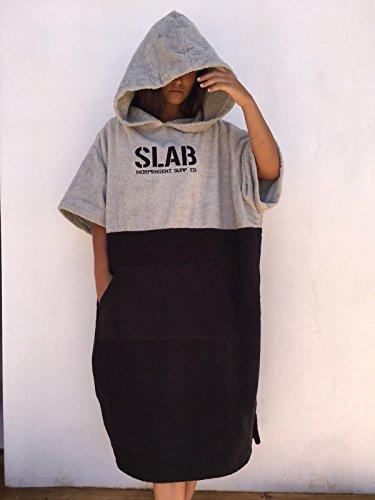Slab-Poncho Toalla Clear Grey and Black Talla M/L