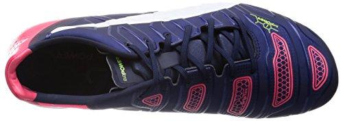 Puma evoPOWER 1.2 Mixed SG Herren Fußballschuhe Blau (peacoat-white-bright plasma 01)