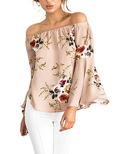 simplee-apparel-damen-sommer-casual-schulterfrei-trompete-armel-chiffon-oberteile-shirts-rosa