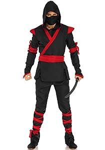 Leg Avenue- Hombre, Color Negro, Rojo, X-Large (LO85653)