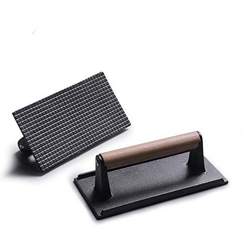 StyleA Steakpresse aus Gusseisen - Antihaftbeschichtung zum Grillen - Grillzubehör Cast Iron Bacon Press