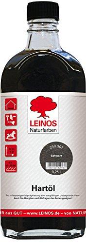 Finish Holz-öl (Leinos 240 Hartöl für Innen 307 Schwarz 0,25 l)
