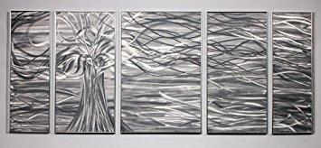 PictureSensations.com Moderner abstrakter Metal Wall Art Decor Skulptur Freischwebender Baum -