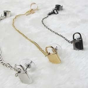 Baipipi vintage porte-cadenas et orné de bol pour boucle d'oreille clip-dX-mall femmes et m? homme
